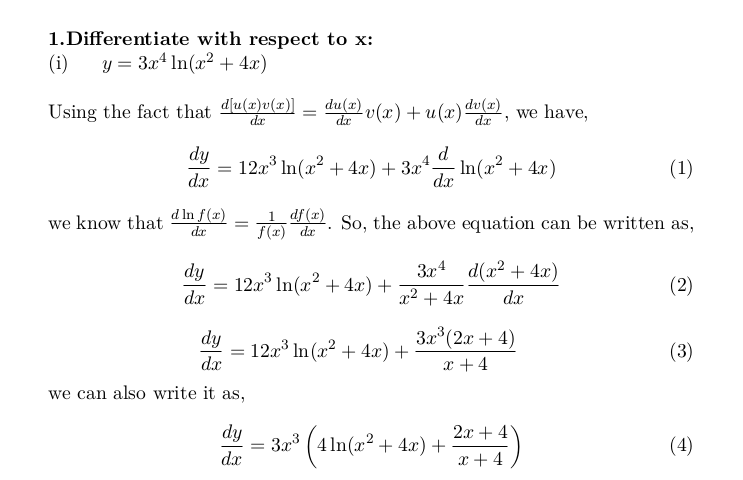 Calculus: Differentiations, Limits, Integrals
