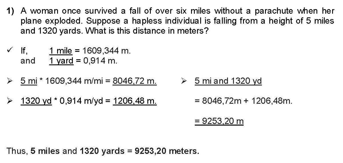 Physical Units and Conversions