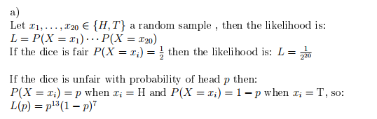 Maximum Likelihood With Unfair Dice Problems