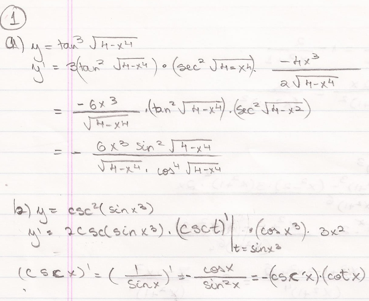 Answer: 4 Calculus Problems and Their Solutions
