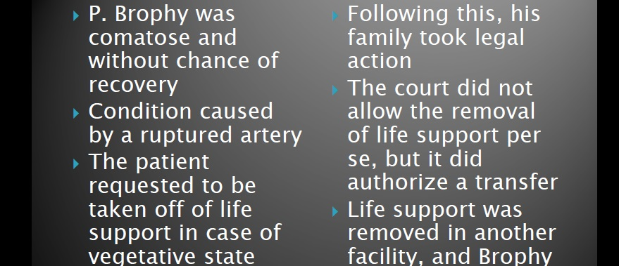 Brophy Vs. New England Sinai Hospital Case (17 Slides)