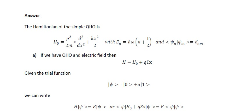 Quantum Physics Questions