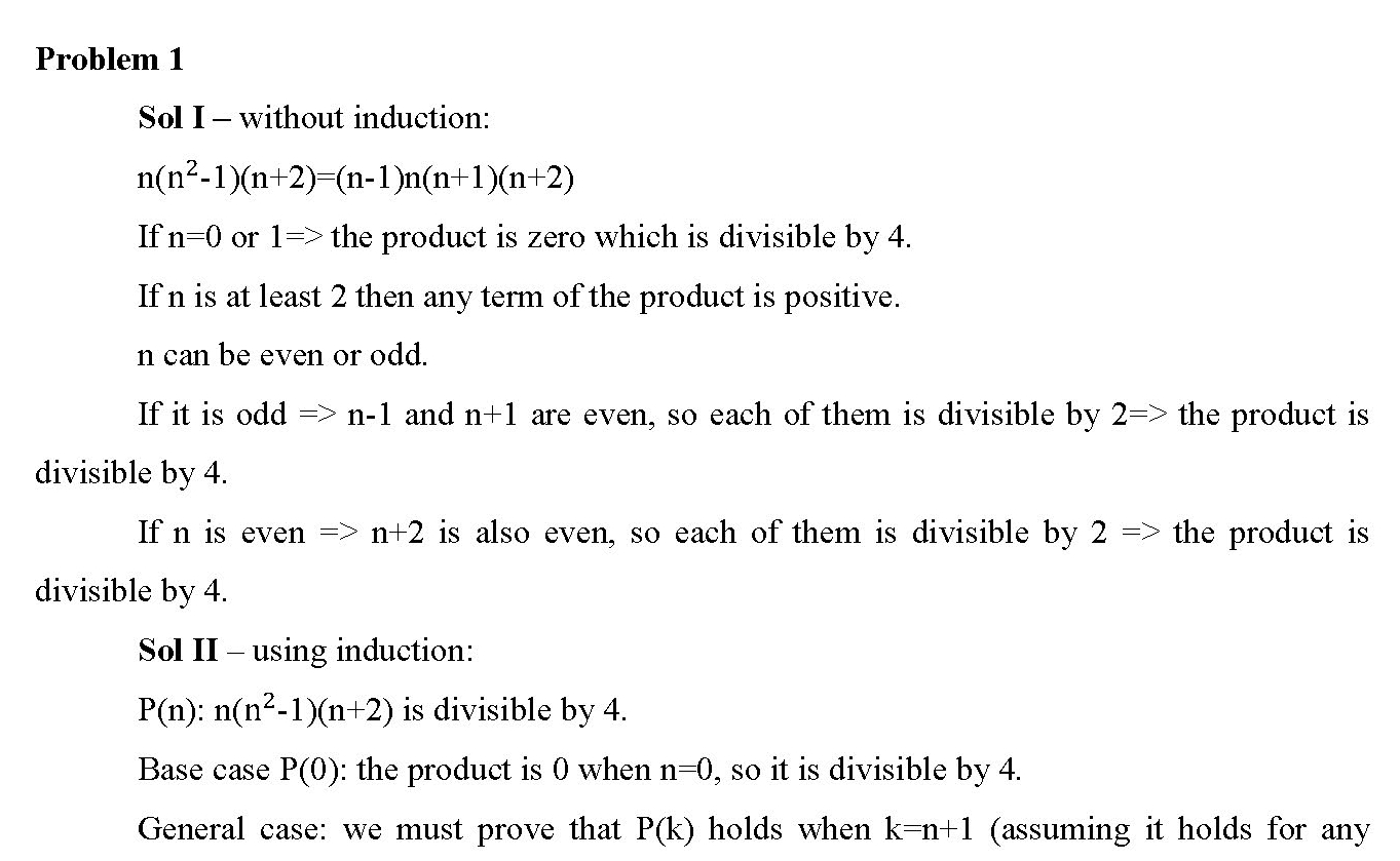 Induction Proof Exercises