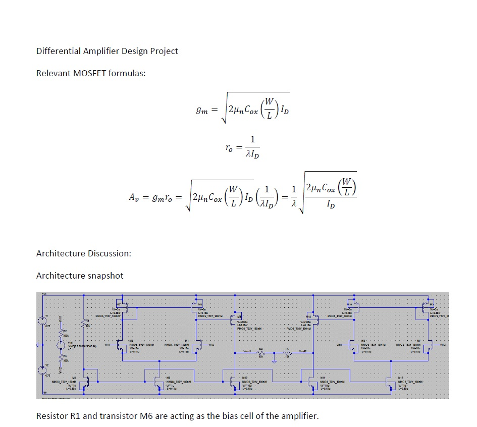 Differential Amplifier Design Project