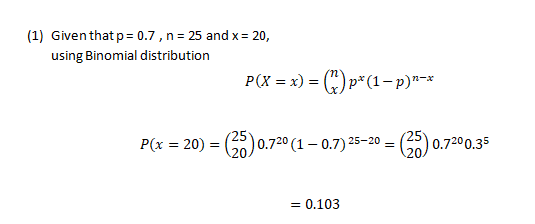 Applied Statistics Questions