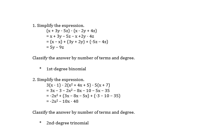 Basic Mathematics Questions