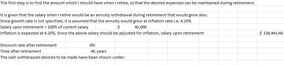 Finance Questions - Retirement Calculation