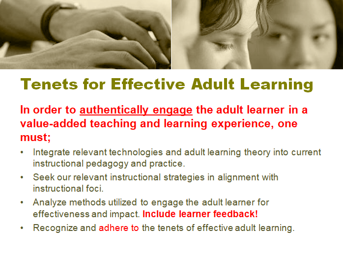 Digital Tools and Effective Strategies for Engaging the Adult Learner (12 slides)