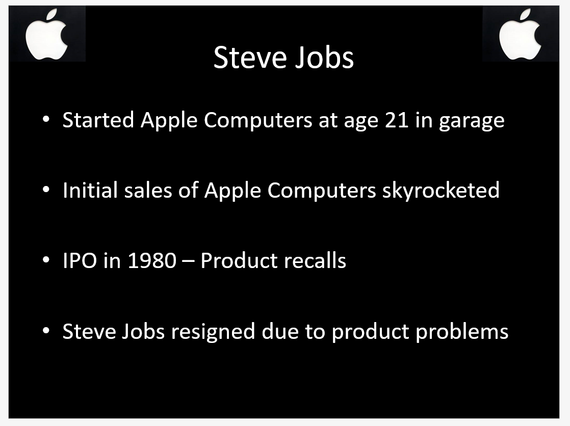 Business Paper and Presentation About Steve Jobs