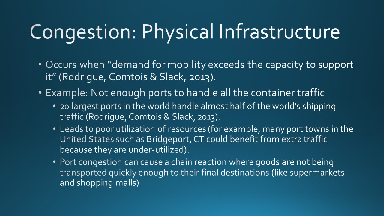 Congestion in Intermodal Freight Transportation (13 slides)