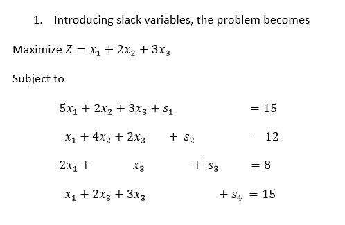 Operations Research Problem Using Simplex